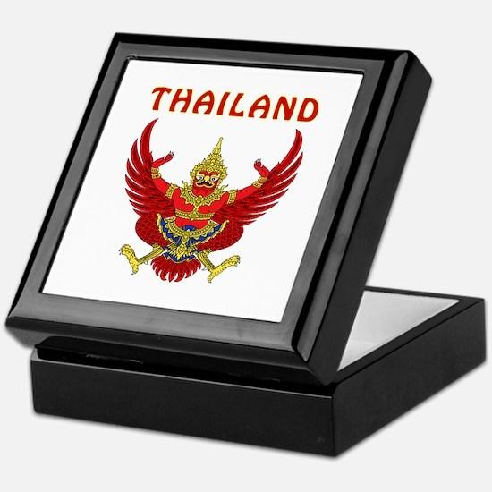 Thailand Coat of arms Keepsake Box