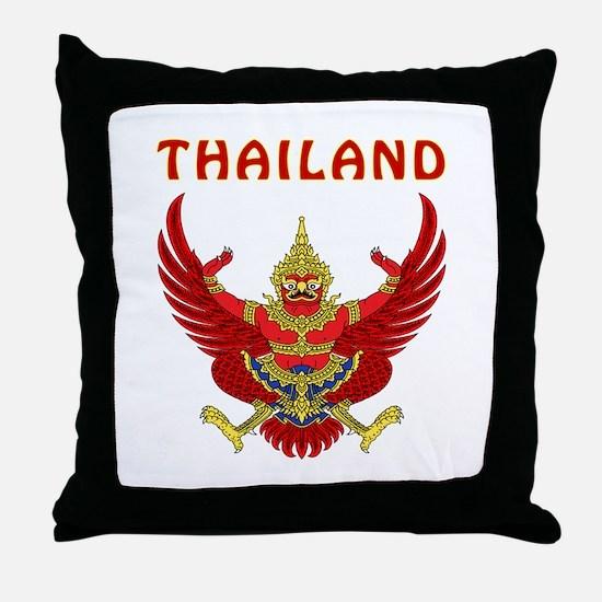 Thailand Coat of arms Throw Pillow