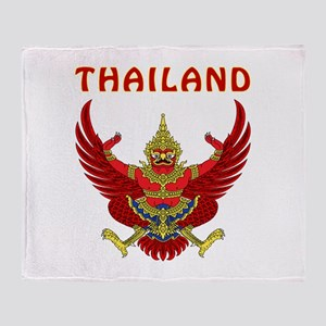Thailand Coat of arms Throw Blanket