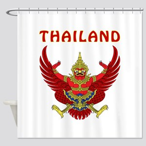 Thailand Coat of arms Shower Curtain