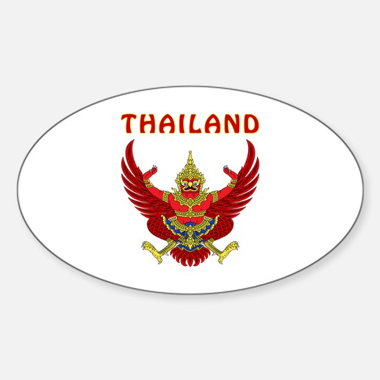 Thailand Coat of arms Sticker (Oval)