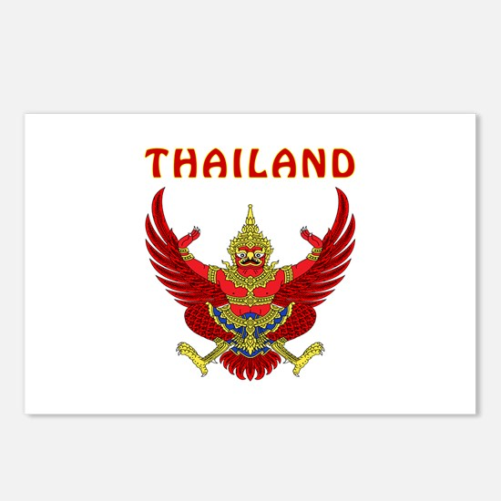 Thailand Coat of arms Postcards (Package of 8)
