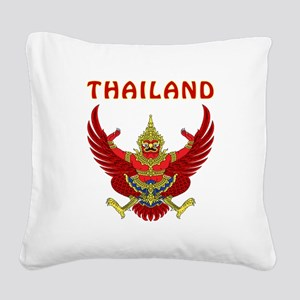Thailand Coat of arms Square Canvas Pillow