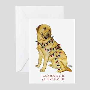 Labrador Yellow Christmas Holiday Greeting Cards