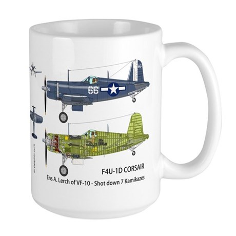 F4U Corsair USS Intrepid CV-11 Large Mug