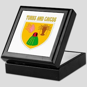 Turks and Caicos Coat of arms Keepsake Box
