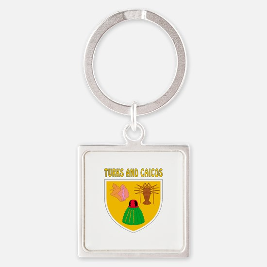 Turks and Caicos Coat of arms Square Keychain