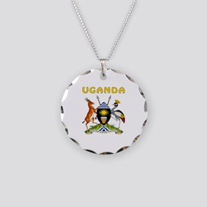 Uganda Coat of arms Necklace Circle Charm