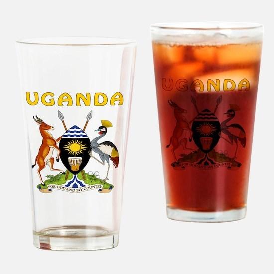 Uganda Coat of arms Drinking Glass