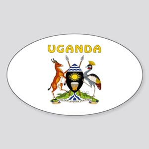 Uganda Coat of arms Sticker (Oval)