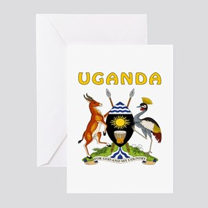 Uganda Coat of arms Greeting Cards (Pk of 20)