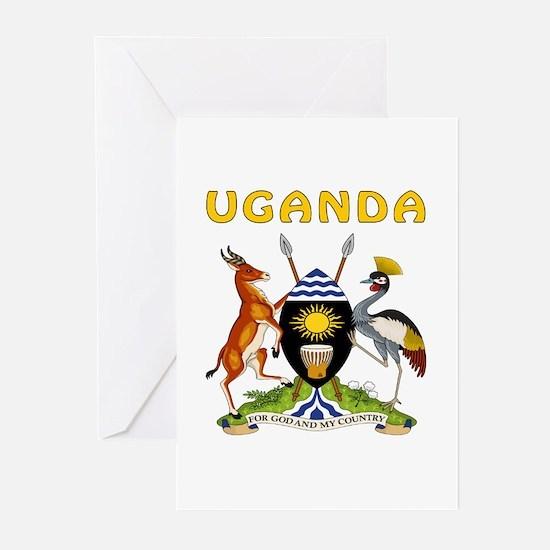 Uganda Coat of arms Greeting Cards (Pk of 20)
