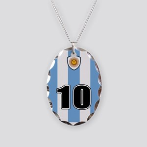 Argentina soccer Necklace Oval Charm