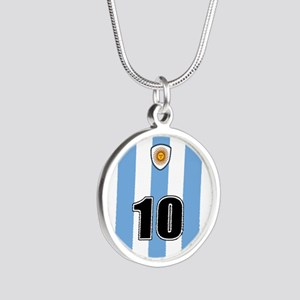 Argentina soccer Silver Round Necklace