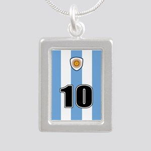 Argentina soccer Silver Portrait Necklace