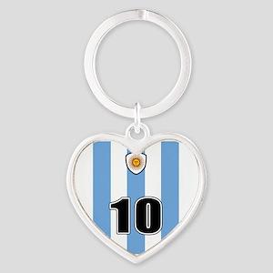 Argentina soccer Heart Keychain