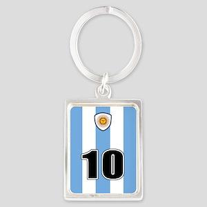 Argentina soccer Portrait Keychain