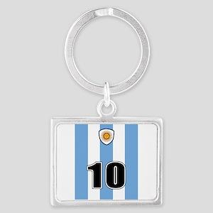 Argentina soccer Landscape Keychain