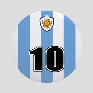 Argentina soccer Ornament (Round)