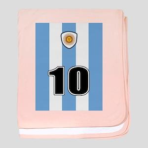 Argentina soccer baby blanket