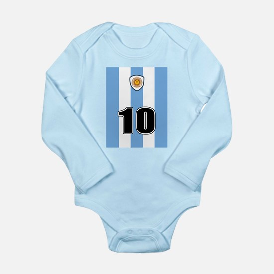 Argentina soccer Long Sleeve Infant Bodysuit