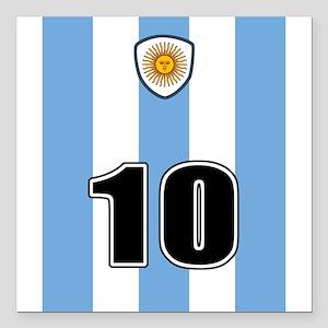 "Argentina soccer Square Car Magnet 3"" x 3"""