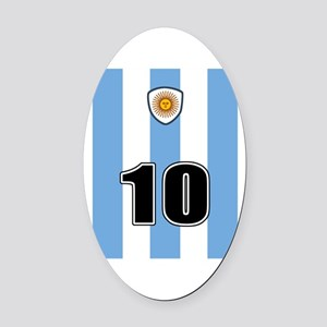 Argentina soccer Oval Car Magnet