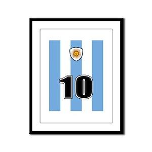 Argentina soccer Framed Panel Print