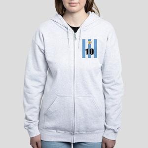 Argentina soccer Women's Zip Hoodie