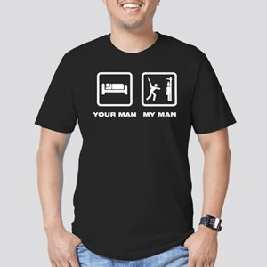 Knives Throwing Men's Fitted T-Shirt (dark)