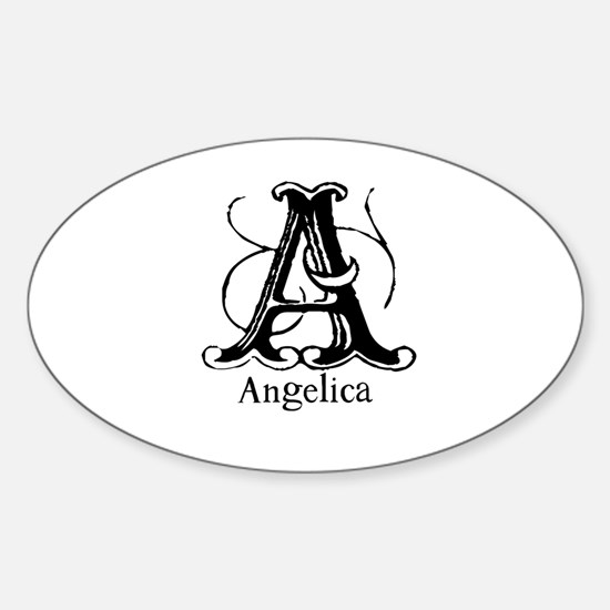 Angelica: Fancy Monogram Oval Decal