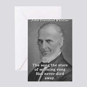 The Song The Stars - John Greenleaf Whittier Greet