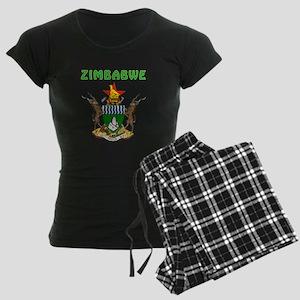 Zimbabwe Coat of arms Women's Dark Pajamas