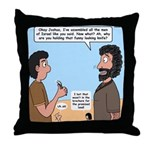 Joshua's Scalpel Throw Pillow