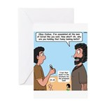 Joshua's Scalpel Greeting Card