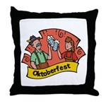October Fest Throw Pillow