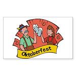 October Fest Rectangle Sticker
