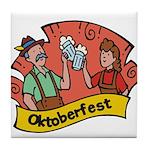 October Fest Tile Coaster