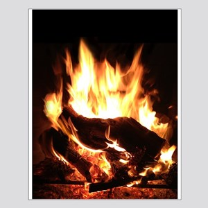 Fireplace Flames Small Poster