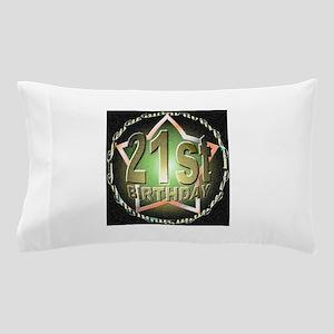 21st birthday celebration art illustration Pillow