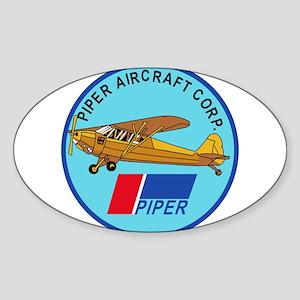 Piper Aircraft Corporation Abzeichen Sticker (Oval
