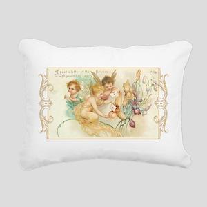 Cupid Angel II Rectangular Canvas Pillow
