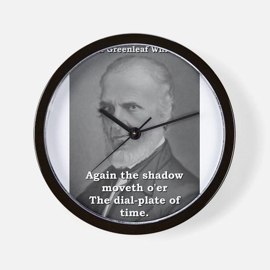 Again The Shadow Moveth - John Greenleaf Whittier