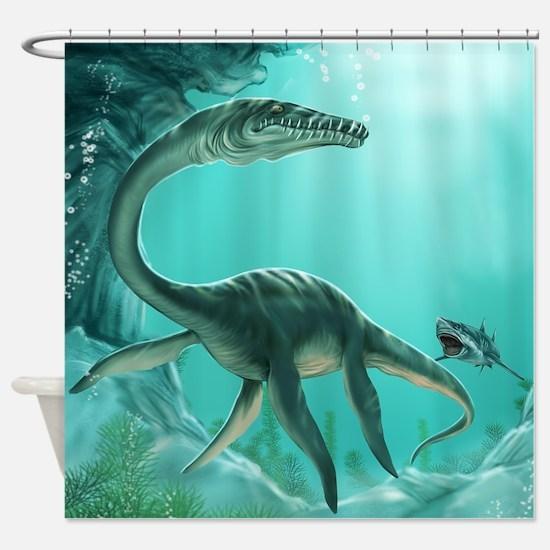 Underwater Dinosaur Shower Curtain