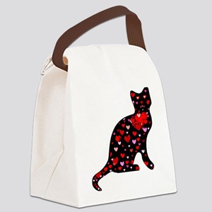 Cat Love Canvas Lunch Bag