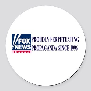Fox News Channel Propaganda Round Car Magnet