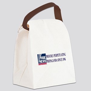 fox news channel propaganda Canvas Lunch Bag