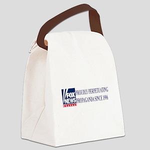 fox news channel propaganda Canvas Lunch Bag