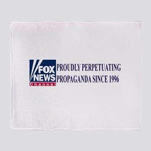 fox news channel propaganda Throw Blanket