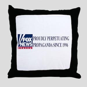 fox news channel propaganda Throw Pillow